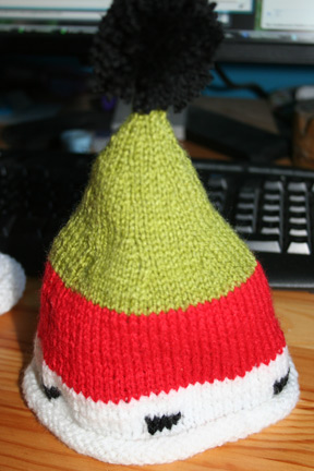 Silly Xmas hat for Baby Sears